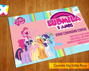 Arte Convite Digital My Little Pony