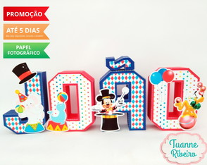 Letra 3D - Circo do Mickey