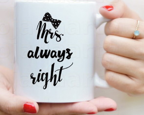 Caneca Mrs.always right - Xicara 1473