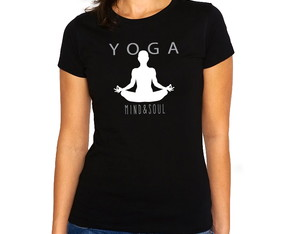 Camiseta Feminina Baby Look Yoga Mind And Soul