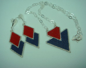 Conjunto Red and Blue