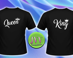 Camisetas Queen e King | Rainha e rei
