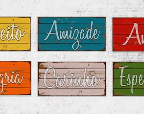 6 Quadros Decorativos Palavras Inspiradoras