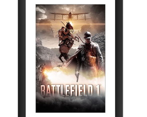 Quadro Battlefield Video Game Jogos Serie Guerras Pc Moldura