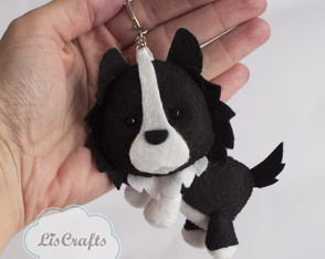 Chaveiro Border Collie - Corpo