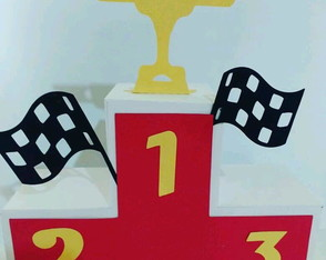 Podium tema carros Disney