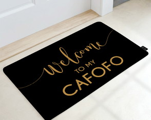 Tapete Decorativo 60x40cm Welcome to my Cafofo