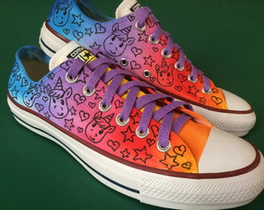 All Star customizado Unicornio tye dye