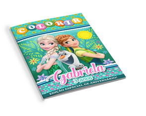Revistinha de Colorir Frozen Fever
