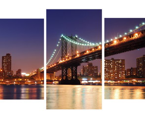 Quadro Decorativo Ponte NY Manhattan 70x120