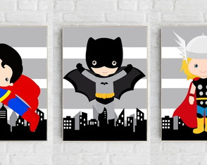 Quadro Decorativo Infantil - Super Kids