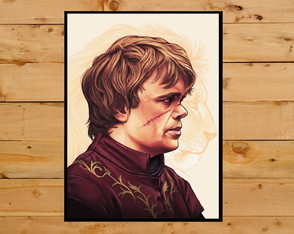 Quadro Decorativo Serie Game Of Thrones Tyrion Lannister A3