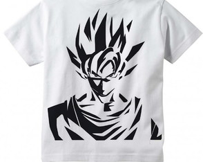 Camiseta Infantil Dragon Ball Goku Traços