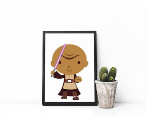 "Quadro decorativo MDF ""Star Wars"""