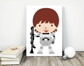 "Placa decorativa MDF ""Star Wars"""