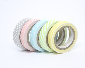 Kit Washi Tapes - Candy Colours (5 Unidades)
