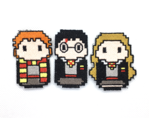 Patches Bordados Harry Potter e Amigos - 3 Patches