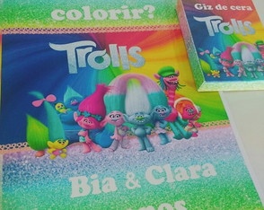 Kit de colorir trolls
