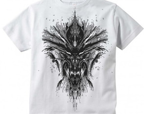 Camiseta Infantil Diablo Rorscharch