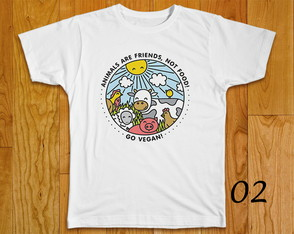 CAMISETA VEGAN FRIENDS NOT FOOD