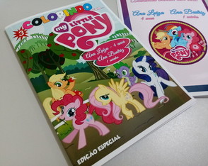 Kit Colorir My Little Pony 15 cm X 21 cm com massinha