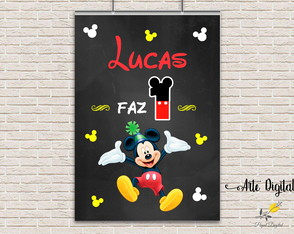 Chalkboard Mickey Arte Digital 6