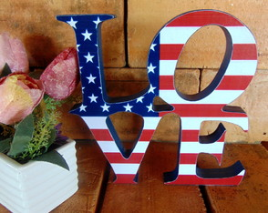 Palavra Decorada - Love Estados Unidos