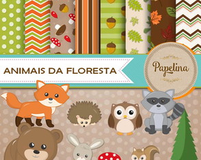 Kit Digital Animais da Floresta