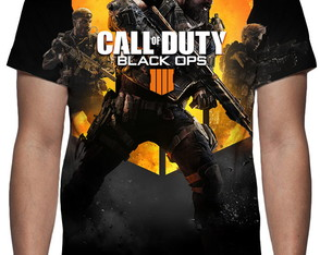 Camiseta - Call of Duty Black Ops 4 - Estampa Total
