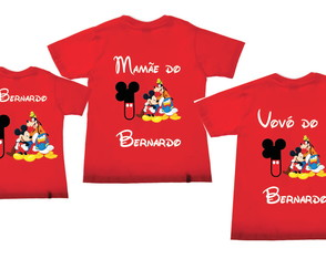 Camisetas aniversario do Mickey