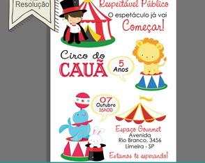 Convite Aniversário Circo Menino 0f740cd1a24