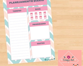 Planner Diário Digital – Modelo: Degrade