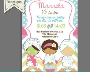 Convite Aniversário Spa Party Digital d6dfb57b0a6