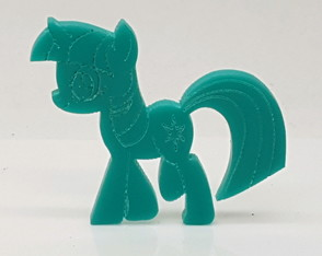 My Little Pony colorida Aplique 4cm