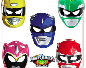 máscaras Power Rangers Dino Change