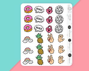 adesivos scrap planner agendas JOURNAL BULLET