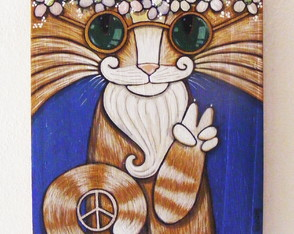 """Peace & Love Cat"""