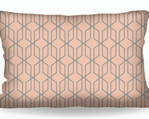 CAPA DE ALMOFADA CONNECTIONS ROSE GOLD E CINZA 30X50 CE02