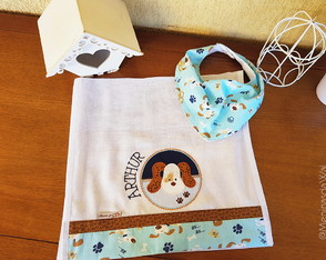 Kit Babador Bandana Cachorrinho