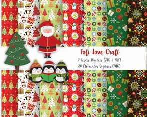 Papel Digital Natal - Cód 223