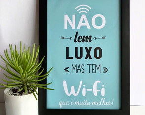 QUADRINHO DECORATIVO WIFI