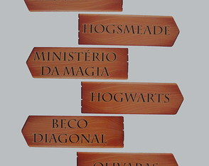 Placas Locais Harry Potter