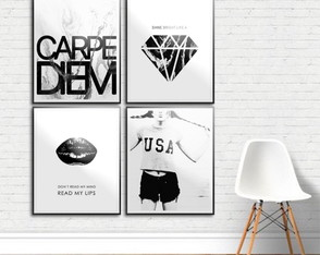 Kit Quadro Decorativo - Carpe Diem