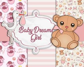KIT DIGITAL BABY DREAMS GIRL