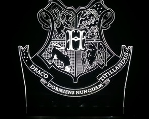 Luminária Harry Potter - Hogwarts