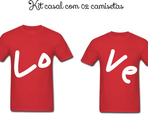 Camiseta Personalizada Love kit com 02