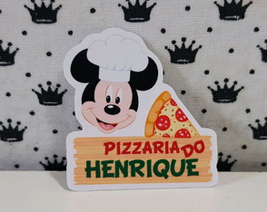 Mickey pizza aplique