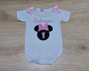 Body personalizado minnie rosa