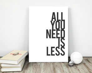 15x20cm - Placa MDF All You Need Is Less