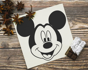 "Placa ""Mickey Mouse"""